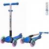Самокат Y-Scoo Globber Elite SL My Free Fold up (светящиеся колёса) синий, купить за 3815руб.