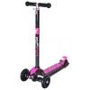 Самокат Y-Scoo Maxi Laser Show (светящаяся платформа) черный/розовый, купить за 3375руб.