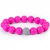 Товар для детей Силиконовый браслет Itzy Ritzy Round Bead Bracelet Hot Pink (18655), купить за 650руб.