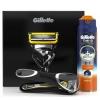 Товар Набор для бритья Gillette Fusion ProShield + Гель Sensitive Active, черный, купить за 2 480руб.