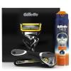 Товар Станок для бритья Gillette Fusion ProShield+Гель Sensitive Active +Чехол, черный, купить за 1 770руб.