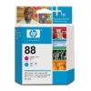 Картридж для принтера HP 88 C9382A, пурпурный/голубой, купить за 8410руб.