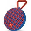 Портативная акустика JBL Clip 2 Malta, синяя с красным, купить за 2 410руб.
