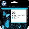 Картридж для принтера HP 70 C9404A, чёрный матовый/голубой, купить за 7440руб.