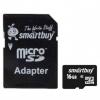 Карта памяти SmartBuy microSDHC Class 10 16GB + SD adapter, чёрный, купить за 690руб.