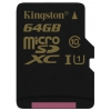 MicroSDXC 64Gb class10 Kingston UHS-I U1  R/W 90/45 MB/s, купить за 2 365 руб.