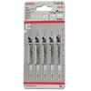 Набор пилок для лобзика BOSCH 2608630032, 5 пилок T101D HCS, по дереву, купить за 925руб.