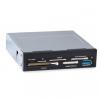 Устройство для чтения карт памяти Ginzzu GR-156UB (внутренний 3.5'', доп. порт USB3.0), черный, купить за 485руб.
