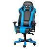 Игровое компьютерное кресло DXRACER King OH/KS06/NB, для геймеров, черно-голубое, купить за 33 990руб.