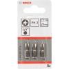Насадки отвёрточные BOSCH Extra-Hart (2607001511), 3 биты PH2 для шуруповёрта, купить за 605руб.