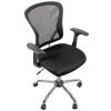 Компьютерное кресло COLLEGE H-8369F (ткань, сетчатый акрил, чёрное), купить за 6 790руб.