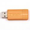 Usb-флешка Verbatim Store 'n' Go PinStripe 16Gb, оранжевая, купить за 755руб.