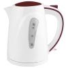 Чайник электрический Supra KES-1721N, белый/вишневый, купить за 840руб.