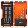 Насадки отвёрточные AEG 158551, 35 предметов (10 свёрл, 24 биты), купить за 1 470руб.