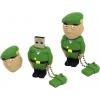 Usb-флешка Iconik RB-SOLDP-16GB, Черно-зелено-бежевая, купить за 1 095руб.