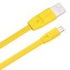 Кабель / переходник Remax Full speed RC-001m, 1 м (USB - microUSB), жёлтый, купить за 340руб.