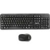 Gembird KBS-7002, беспроводные клавиатура и мышь, чёрные, купить за 945руб.