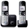 Радиотелефон DECT Panasonic KX-TG6812RUB Черный/Серебристый, купить за 3 870руб.
