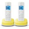 Радиотелефон DECT Panasonic KX-TGС312RUR Белый/Жёлтый, купить за 3 300руб.