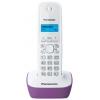 Радиотелефон DECT Panasonic KX-TG1611RUF Фиолетовый/Белый, купить за 1 605руб.