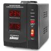 Стабилизатор напряжения PowerMan AVS-1000D (1000 VA / электромеханический / 2 розетки), чёрный, купить за 1 910руб.