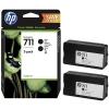 Картридж для принтера HP №711 P2V31A, Черный, купить за 10 635руб.