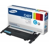 Картридж Samsung CLT-C407S Cyan, купить за 3120руб.