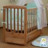 Детская кроватка Кубаньлесстрой Ромашка АБ 16.1 светлый орех, купить за 9 335руб.