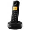 Радиотелефон Philips D1301B/51 DECT, Черный, купить за 1 800руб.