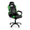 Игровое компьютерное кресло Arozzi Enzo, черно-зеленое, купить за 9790руб.