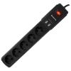 Сетевой фильтр Defender DFS 453 черный, купить за 960руб.
