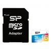 Silicon Power Elite COLORED MicroSDHC 16Gb (Class10, U1, R/W 85/15 MB/s), с SD-адаптером, купить за 980 руб.