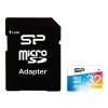 Silicon Power Elite COLORED MicroSDHC 32Gb (Class10, U1, R/W 85/15 MB/s), с SD-адаптером, купить за 870 руб.