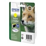 картридж Epson T1284 Лиса Yellow