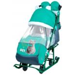 санки-коляска Nika Ника Детям 7-2 (НД 7-2) Kitty, изумруд