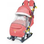 санки-коляска Nika Ника Детям 7-3 (НД7-3), красная
