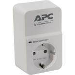 сетевой фильтр APC PM1W-RS, белый