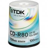 Оптический диск ТDK CD-R 700Mb CD-R80CBA100 (100 шт.)