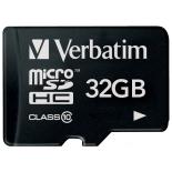 карта памяти Флеш-карта Verbatim microSDHC Class 10 32Gb