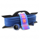 удлинительный кабель PowerCube PC-B1-F-30-R, черно-синий