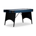 игровой стол Аэрохоккей Weekend-Billiard Blue Ice, черно-голубой