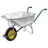 тележка садовая Grinda (90 литров), серебристо-зелёная