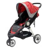 коляска Baby Care Variant 3, красно-серая
