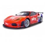 радиоуправляемая модель MJX Ferrari F430 GT  #56, красная