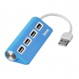 USB-концентратор Hama 12179, голубой