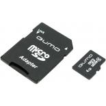 карта памяти Qumo microSDHC class 6 4GB (с адаптером)