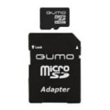 карта памяти Qumo microSDHC class 10 8GB, Черная
