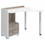 стол компьютерный Мэрдэс СКМ-55 (Правый), Белый жемчуг/Нельсон