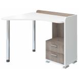 стол компьютерный Мэрдэс СКМ-55 (Левый), Белый жемчуг/Нельсон