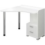 стол компьютерный Мэрдэс СКМ-55 (Правый), Белый жемчуг неизменна